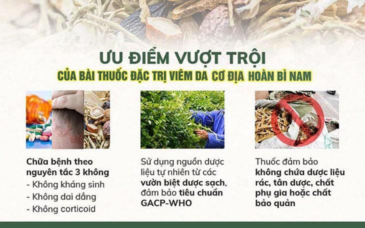 Hoàn Bì Nam đảm bảo an toàn nhờ sử dụng 100% dược liệu sạch
