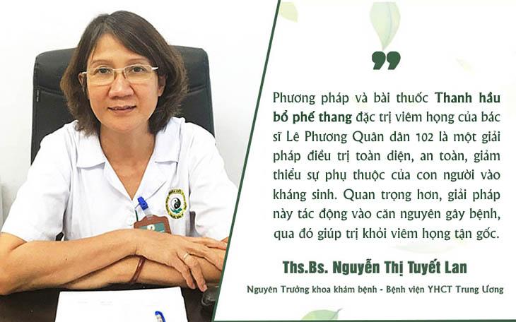 Nhận xét của bác sĩ Nguyễn Thị Tuyết Lan