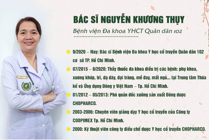 Một số thông tin về bác sĩ Nguyễn Khương Thụy Quân dân 102
