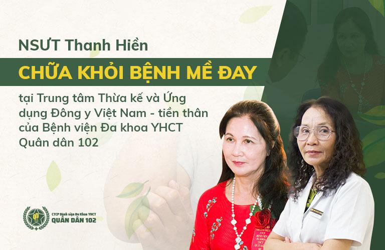 NSUT Thanh Hiền là một trong những người bệnh điều trị mề đay thành công nhờ Quân dân 102