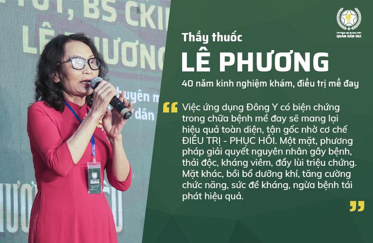 Bác sĩ Lê Phương là người nghiên cứu, ứng dụng thành công phương pháp trị mề đay Quân dân 102