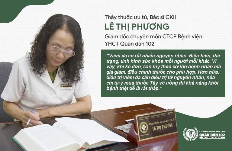 Bác sĩ Lê Phương chỉ ra sai lầm trong điều trị viêm da khiến bệnh mãi không khỏi