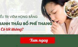 Chữa viêm họng bằng Thanh Hầu Bổ Phế Thang có tốt không?