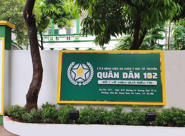 Bệnh viện Y học Cổ truyền Quân dân 102 tiền thân là Trung tâm thừa kế và Ứng dụng Đông Việt Nam, là cơ sở khám và chữa bệnh bằng phương pháp y học cổ truyền