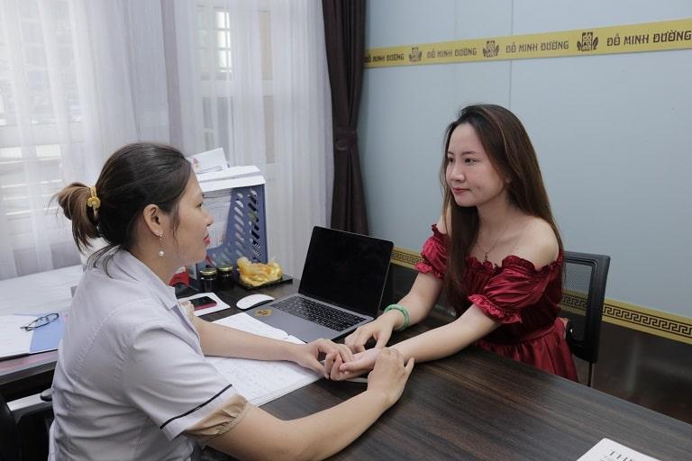 Chị Ly thăm khám và điều trị tại Đỗ Minh Đường