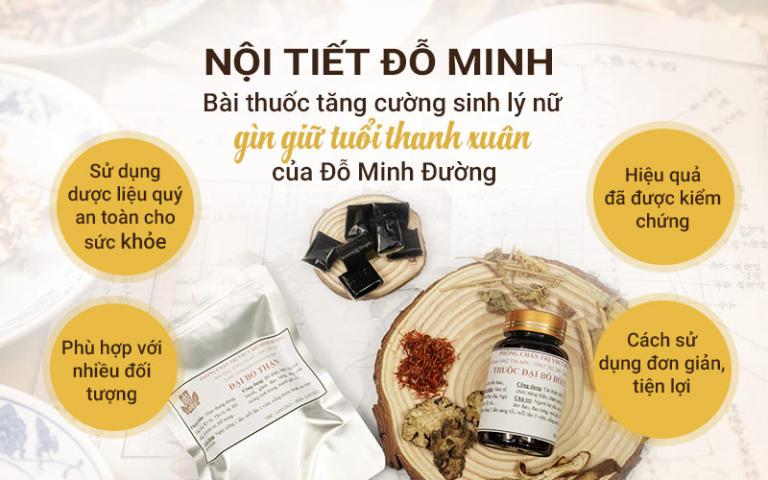 Ưu điểm của bài thuốc Nội tiết Đỗ Minh