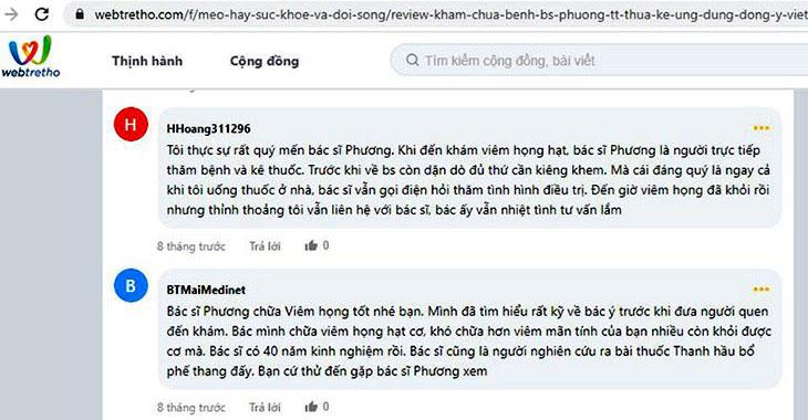 Nhận xét của độc giả Hhoang329691 - Webtretho