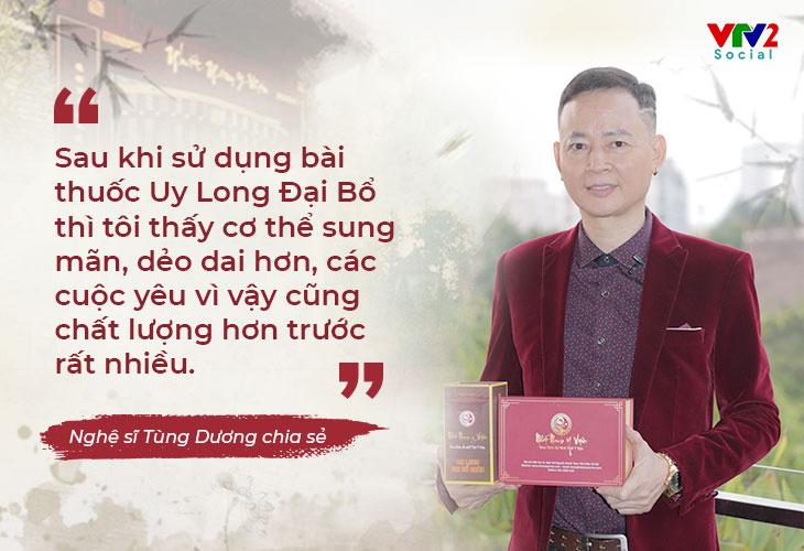 Nghệ sĩ Tùng Dương chia sẻ bài thuốc giúp nâng tầm sung mãn