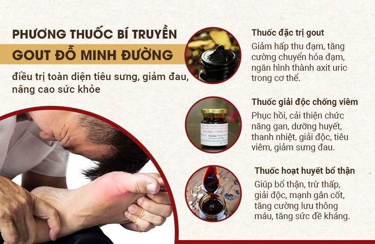Công thức 3 trong 1 của bài thuốc Gout Đỗ Minh