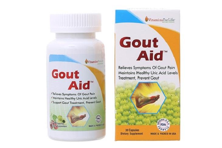 Gout Aid là sản phẩm được nghiên cứu, sản xuất tại Mỹ, giúp ngăn ngừa hình thành bệnh gout và giảm đau do gout gây ra
