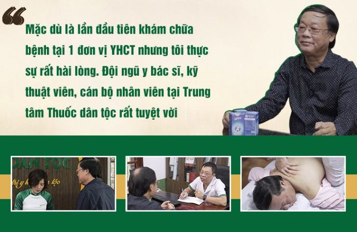 Nghệ sĩ Phú Thăng hài lòng tuyệt đối với đội ngũ y bác sĩ, kỹ thuật viên tại Trung tâm Thuốc dân tộc