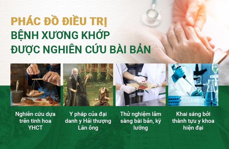 Phác đồ điều trị bệnh xương khớp tại Trung tâm Thuốc dân tộc được nghiên cứu bài bản