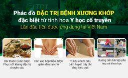 Phác đồ điều trị bệnh xương khớp đặc biệt theo tinh hoa YHCT