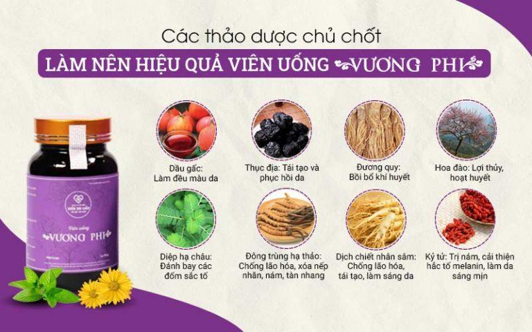 Thảo dược trong Vương Phi đều chuẩn sạch và chất lượng cao