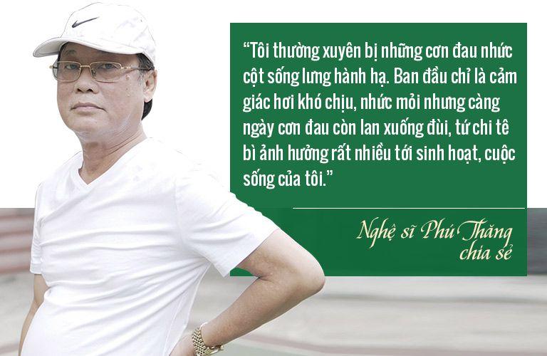 NSƯT Phú Thăng bị thoát vị đĩa đệm ở ngoài độ tuổi 50