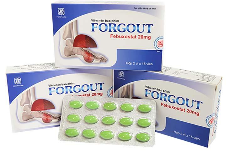 Forgout là một trong những thực phẩm chức năng được sử dụng cho người bị bệnh gout