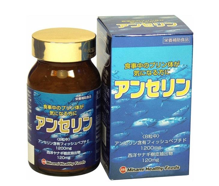 Thuốc gout Anserine Minami là dòng sản phẩm cao cấp của Nhật Bản, có công dụng giảm đau, viêm và sưng do gout gây ra
