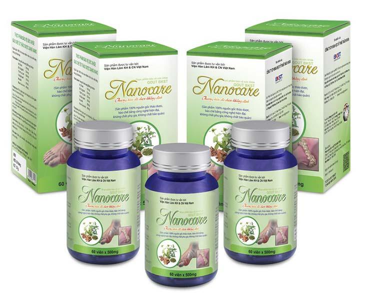 Viên gout Nanocare là thực phẩm chức năng được sử dụng nhằm cải thiện các triệu chứng của bệnh gout theo phương pháp Đông y