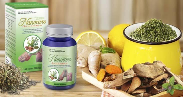 Nanocare là sản phẩm có tác dụng hỗ trợ cải thiện các triệu chứng của bệnh gout, không thể thay thế thuốc chữa bệnh