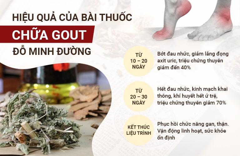 Hiệu quả của bài thuốc Gout Đỗ Minh