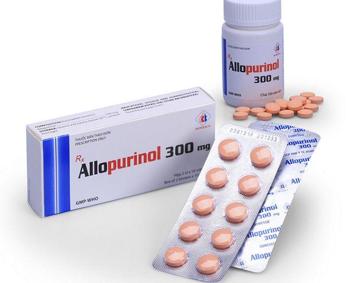 Allopurinol là thuốc trị gout được dùng trong các liều dự phòng