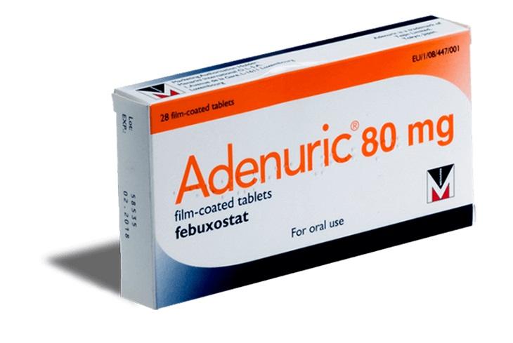 Febuxostat ức chế tổng hợp axit uric
