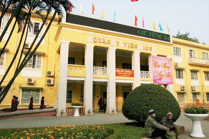 Bệnh viện Quân y 103 cũng là bệnh viện chữa gút ở Hà Nội được nhiều người biết đến