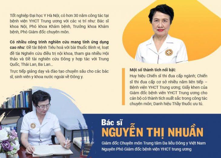 Thông tin về bác sĩ, thầy thuốc ưu tú Nguyễn Thị Nhuần