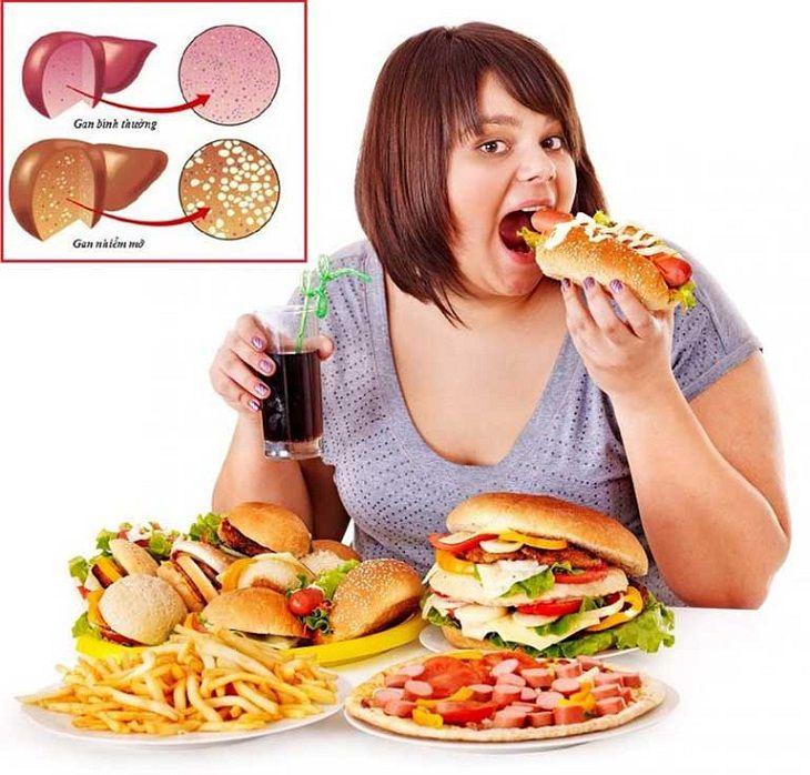 Những người thừa cân béo phì rất dễ bị gan nhiễm mỡ