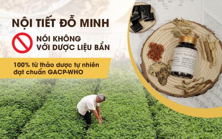 Nội tiết Đỗ Minh sử dụng toàn bộ thảo dược sạch từ thiên nhiên