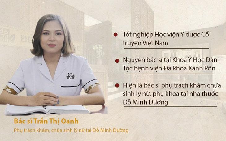 Thông tin bác sĩ Trần Thị Oanh