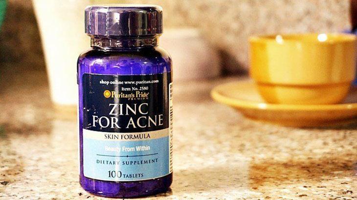 Thuốc trị mụn nội tiết tố Zinc for Acne Puritan's Pride