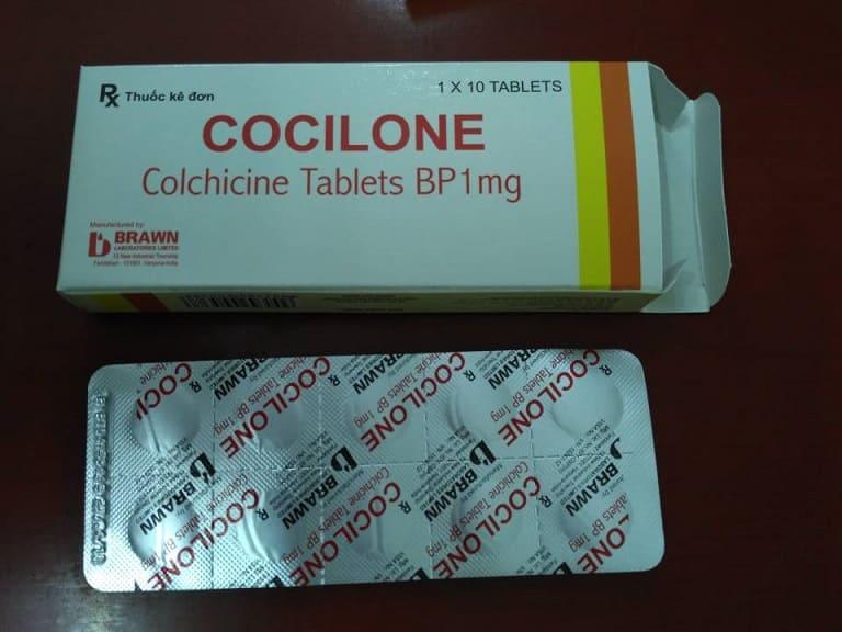 Thuốc Gout Colchicine giá bao nhiêu?