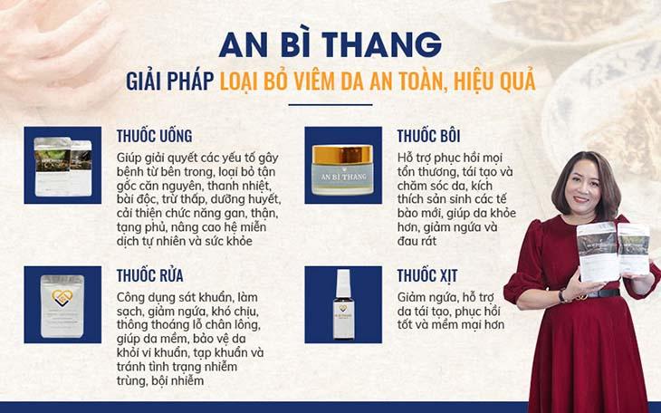 4 chế phẩm chính trong điều trị viêm da cơ địa của bài thuốc An Bì Thang