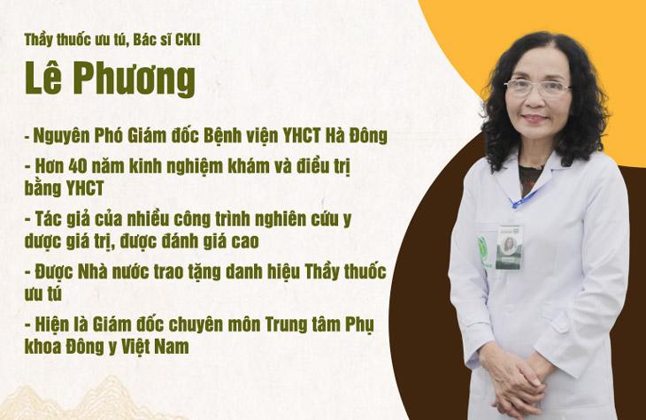 Bác sĩ Lê Phương có hơn 40 năm kinh nghiệm trong khám và điều trị phụ khoa