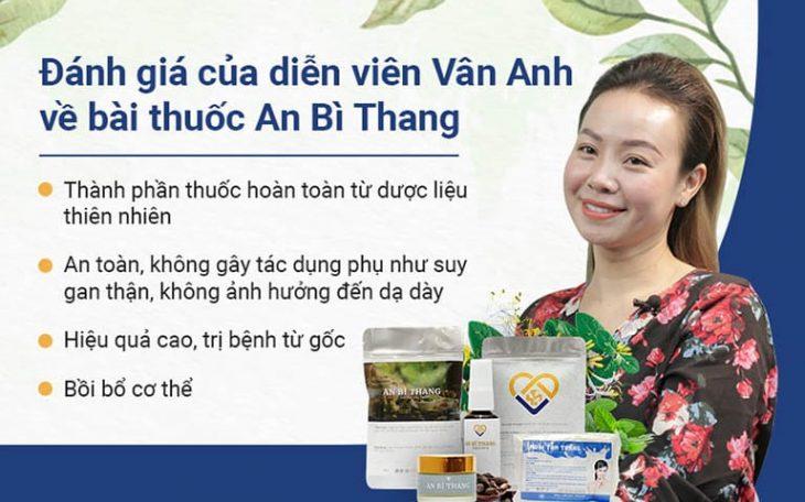 Nữ diễn viên đánh giá cao hiệu quả điều trị của bài thuốc An Bì Thang