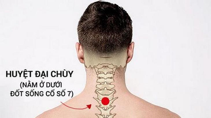 Hình ảnh huyệt Đại Chùy trên cơ thể người