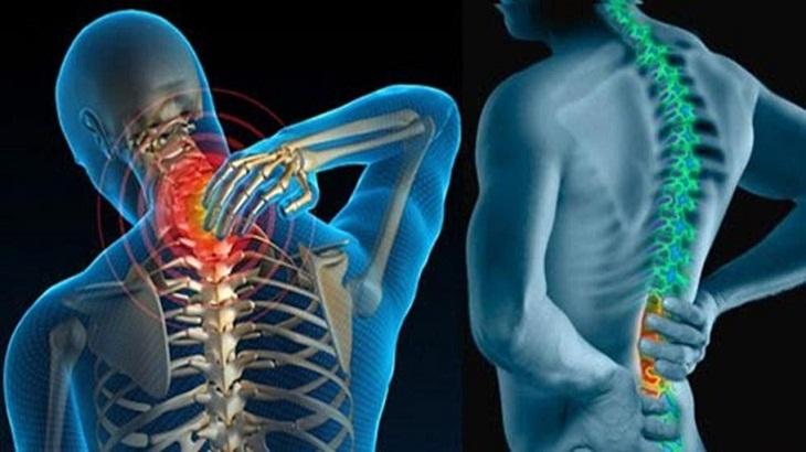 Người bệnh cảm thấy đau nhức ở vùng lưng, cột sống