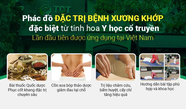 Phác đồ điều trị bệnh xương khớp đặc biệt của Trung tâm Thuốc dân tộc