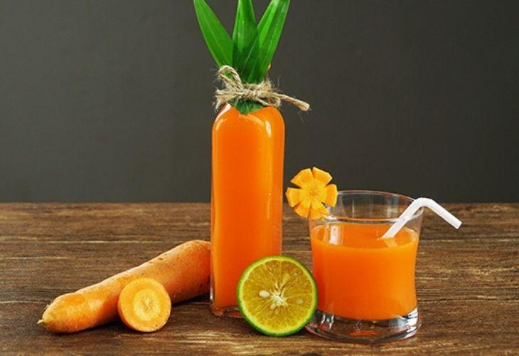 Uống nước ép cà rốt mỗi ngày để nhận thấy sự thay đổi tích cực