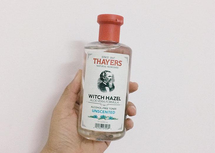 Toner cho da dầu mụn tốt nhất Thayers Witch Hazel & Rose Petal