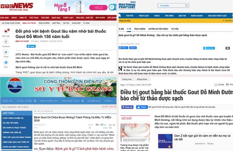 Truyền thông nói gì về bài thuốc Gout Đỗ Minh