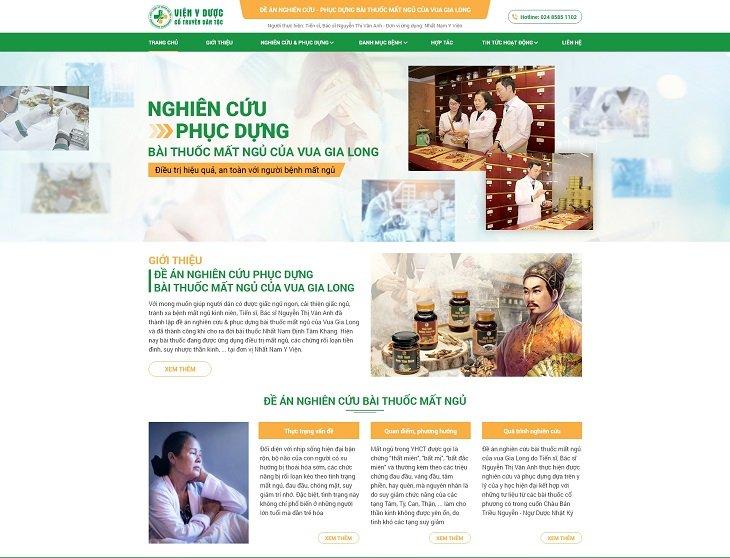 Website đề án nghiên cứu - phục dựng bài thuốc chữa mất ngủ của Vua Gia Long