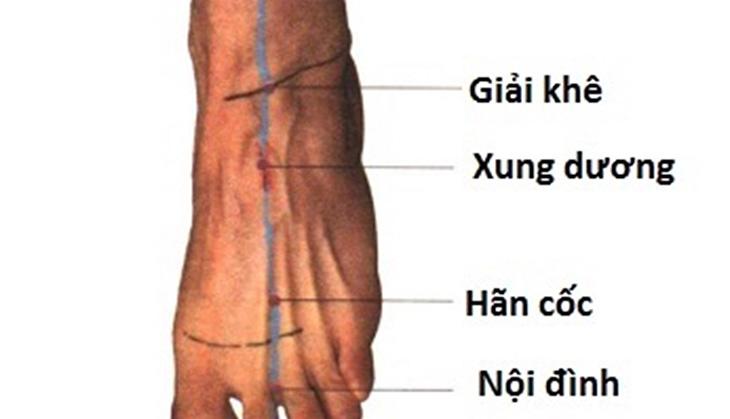Huyệt giải khê có tên gọi khác là hài đái, hài đới thuộc đường kinh Thận, huyệt thứ 3