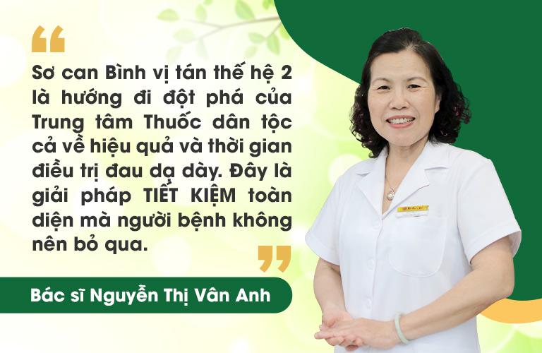TS.BS Vân Anh nhận xét về Sơ can Bình vị tán 2