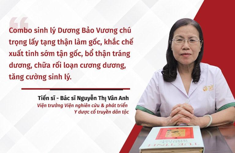 Bác sĩ Vân Anh đánh giá cao về hiệu quả điều trị của bài thuốc