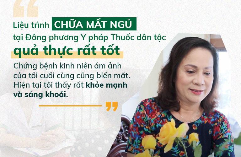 Nghệ sĩ Hương Dung điều trị dứt điểm mất ngủ nhờ Đông phương Thần hiệu