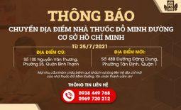 Nhà thuốc Đỗ Minh Đường cơ sở miền Nam đổi địa chỉ hoạt động