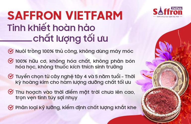 Saffron Vietfarm chất lượng thượng đỉnh nhờ quy trình nuôi trồng tiêu chuẩn