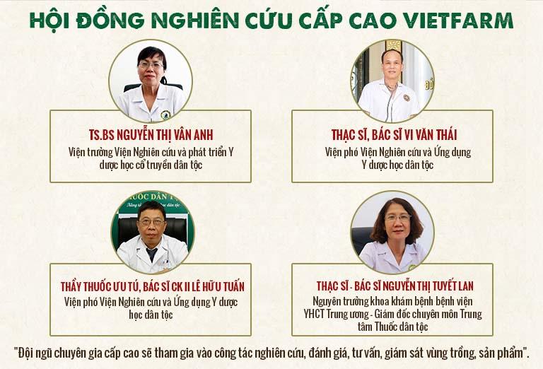 Hội đồng chuyên môn cấp cao của Trung tâm dược liệu Vietfarm